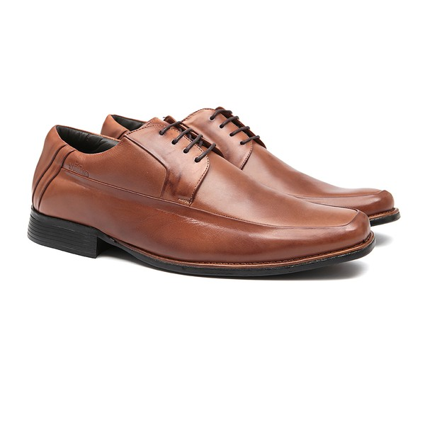 Sapato Clássico Masculino Derby Johannes Bronze Samello