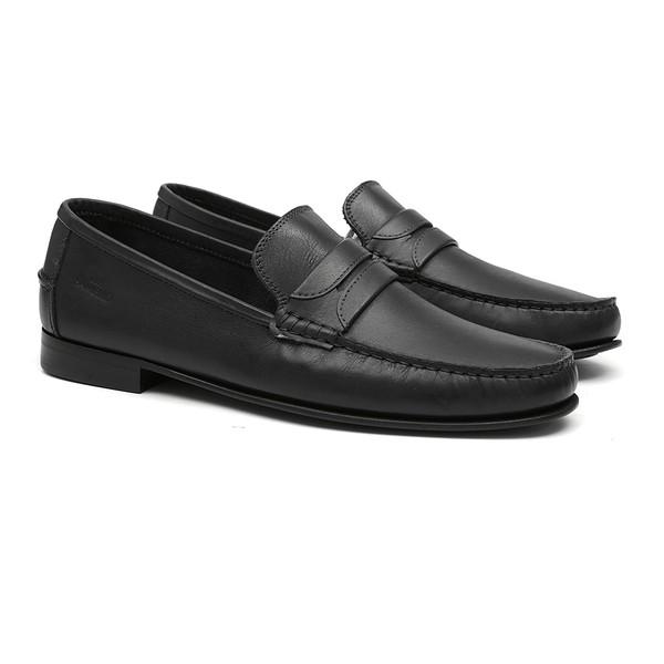 Sapato Masculino Loafer Bossier Preto Samello