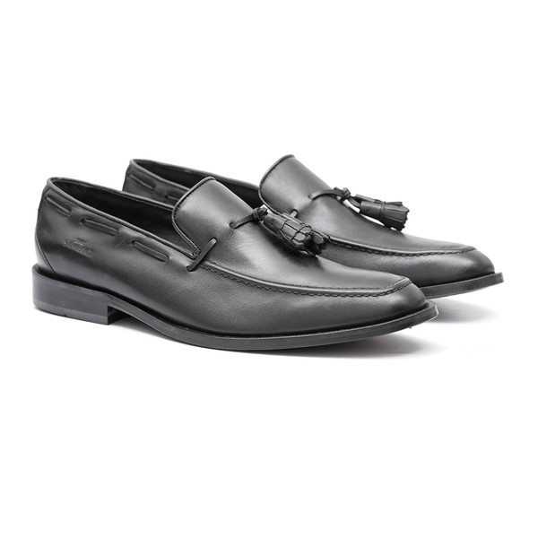 Sapato Masculino Loafer Franz Preto Samello
