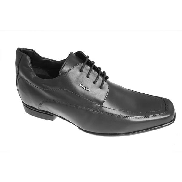 Sapato Sândalo Com Elevação Up Cadarço Preto