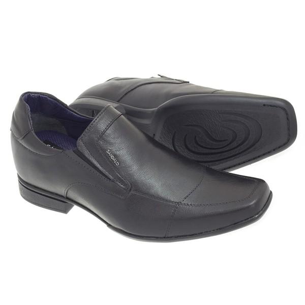 Sapato Social Sândalo Up Com Elevação Preto