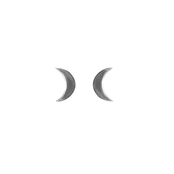 Brinco em Prata 925 - Meia Lua|Coleção Crystal Moon