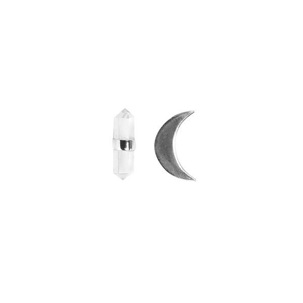 Brinco Meia Lua com Ponta|Coleção Ártemis