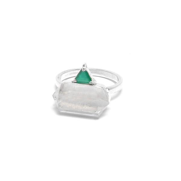 Anel Prisma Cristal | Coleção Prisma