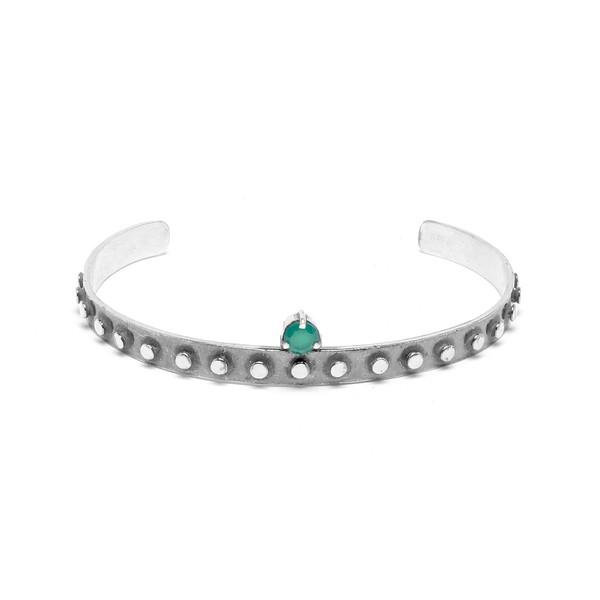 Bracelete Industrial Zirconia Redondo | Coleção Industrial