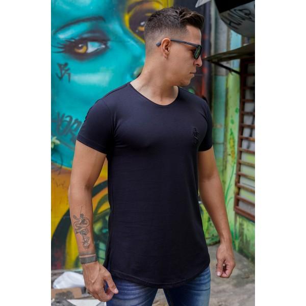 T-shirt Long Basic Black