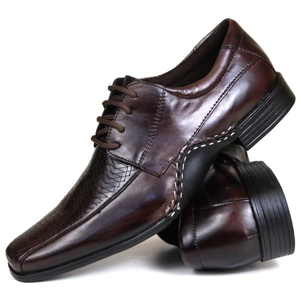 Sapato Social em Couro café 2072