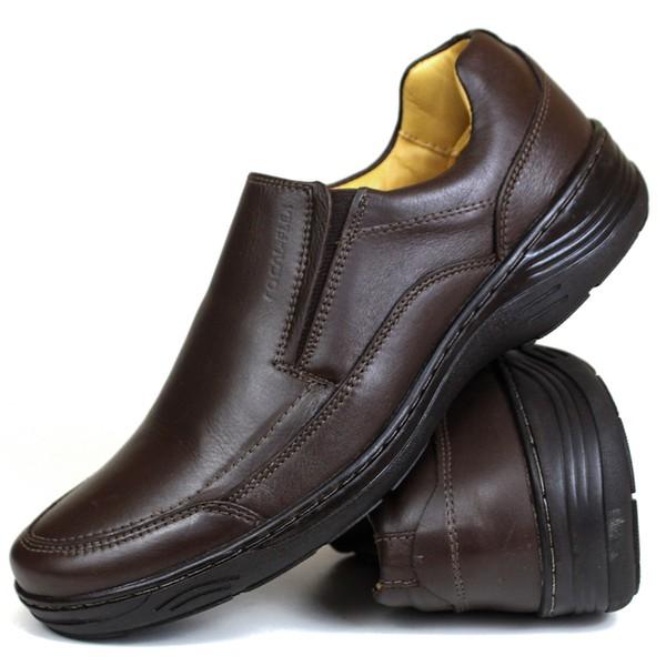 Sapato Social confort em Couro café 70019