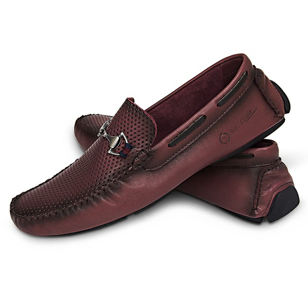 Mocassim Masculino Couro Latego Diamante Fumex Bordo Snake