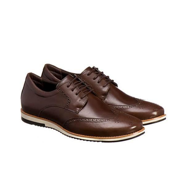 Sapato Oxford Masculino Em Couro Legítimo El Baron Marrom