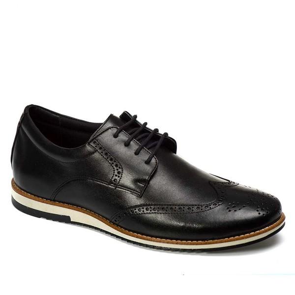 Sapato Oxford Masculino Em Couro Legítimo El Baron Preto