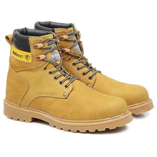 Tênis Adventure Cano Alto Work Boot Camel