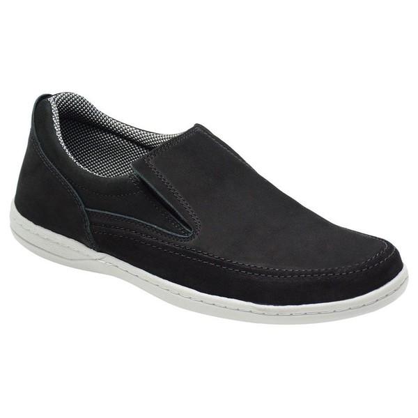 Sapato Masculino Comfort Sportive Em Couro Cor Preto-1036-2021-3