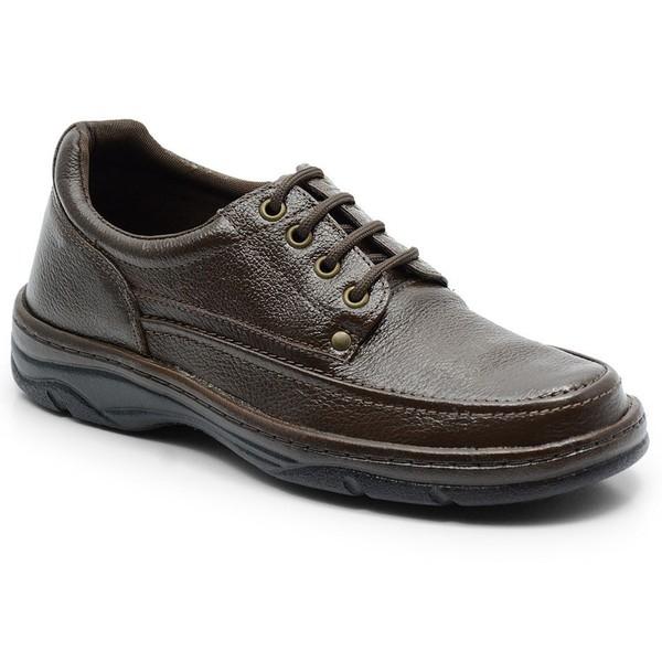 Sapato Masculino Em Couro Cor Cafe Ref. 560-2020