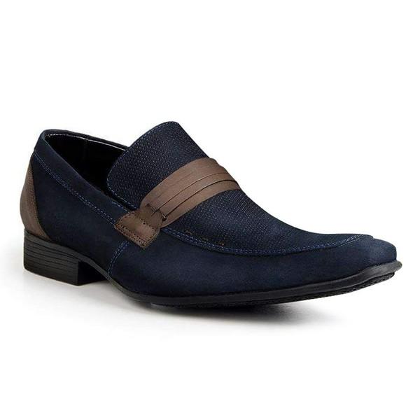 Sapato Social Classic Tipo Italiano Couro Azul 1268-359