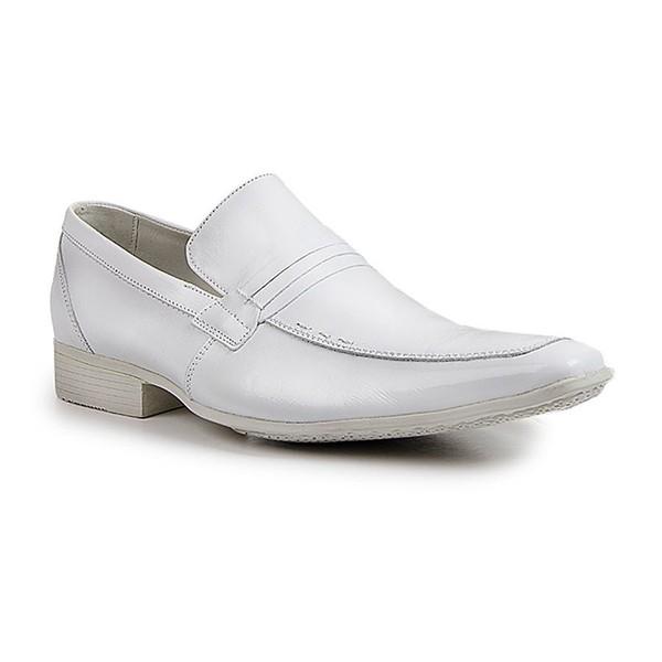 Sapato Social Clássic Tipo Italiano Couro Branco Ref.1297-359