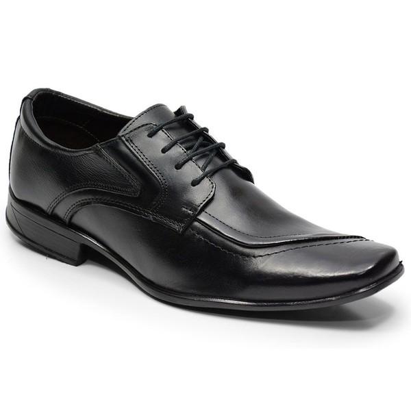Sapato Social Em Couro Na Cor Preto Ref. 637-125