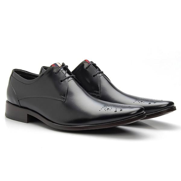 Sapato Brogue de Amarrar cor Preto