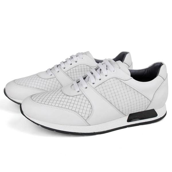 Sapato Casual Jogging em Couro Branco