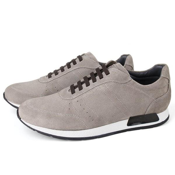 Sapato Casual Jogging Em Couro Croche Savelli