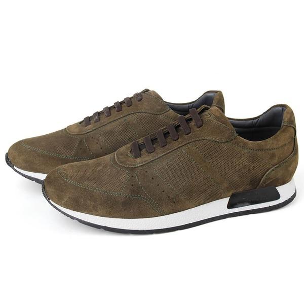 Sapato Casual Jogging Em Couro Musgo Savelli