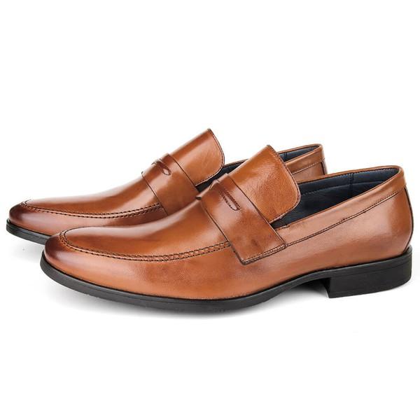 Sapato Masculino Loafer em Couro Bronze Savelli