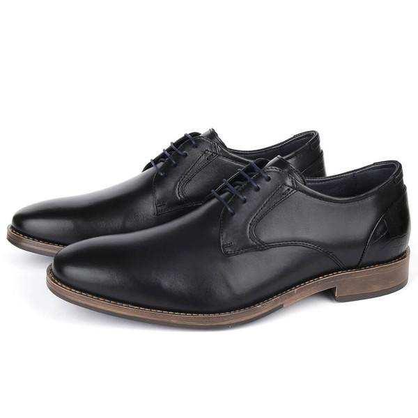 Sapato Masculino Vulcano em couro preto Savelli