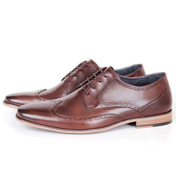 Sapato Masculino Derby em Couro Café Savelli