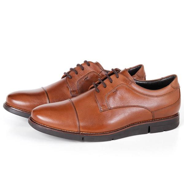 Sapato True Tech Casual em Couro Bronze Savelli