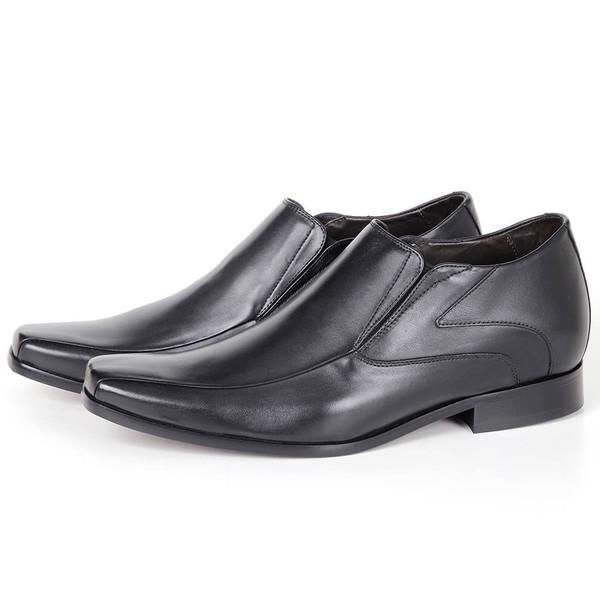 Sapato UP de Calçar em Couro Preto Savelli (Solado de Couro)