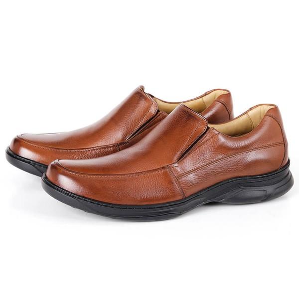 Sapato Comfort Plus em Couro Bronze Savelli