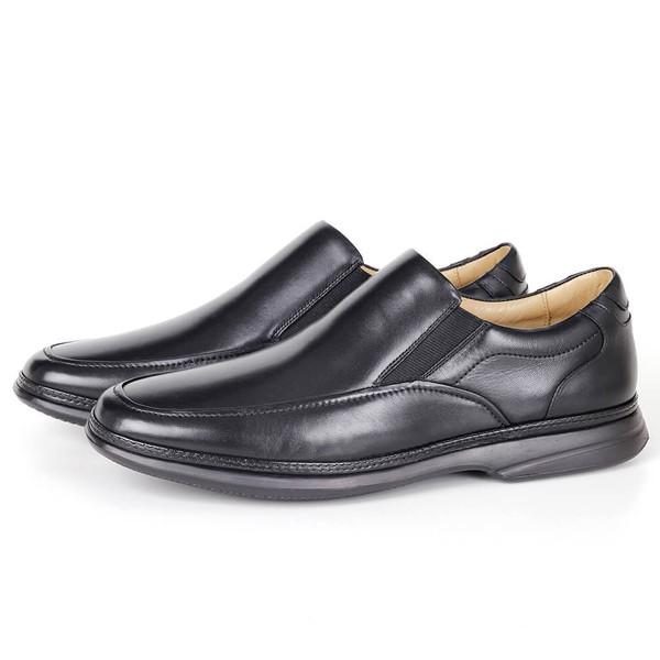 Sapato Massage de Calçar em Couro Preto Savelli
