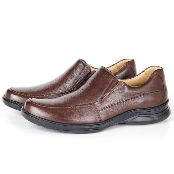 Sapato Comfort Plus em Couro Floater Café Savelli