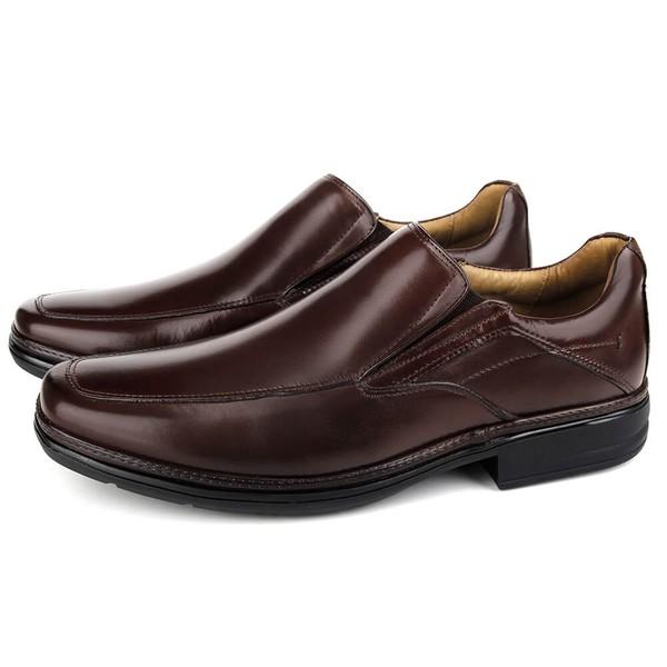 Sapato Conforto Light de calçar em Couro Cafe Savelli