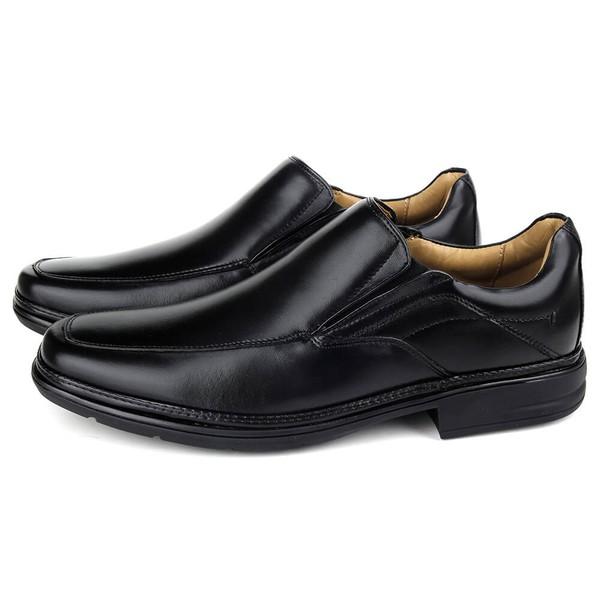 Sapato Conforto Light de calçar em Couro Preto Savelli