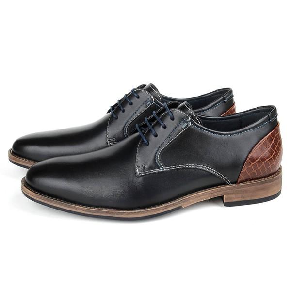 Sapato Masculino Vulcano em couro para uso casual ou social, cor preto