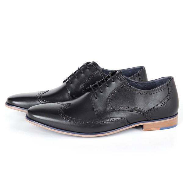 Sapato Masculino Derby em Couro Preto Savelli