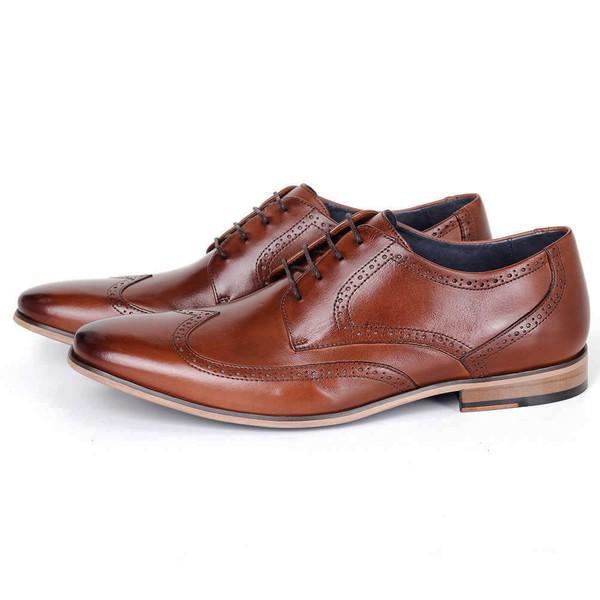 Sapato Masculino Derby em couro bronze Savelli