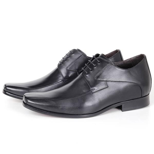 Sapato UP Clássico em Couro Preto Savelli (Solado de Couro)