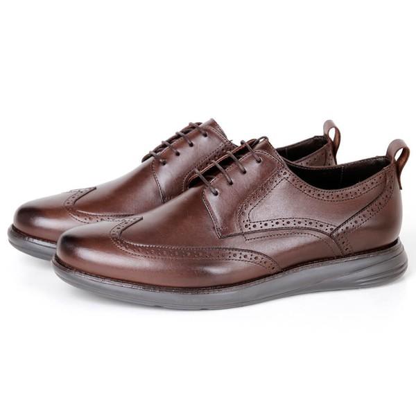 Sapato Masculino Derby Conforto em Couro Café Savelli