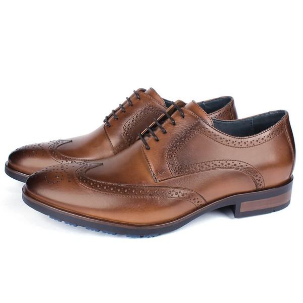 Sapato Masculino Derby Mônaco Em Couro Havana Savelli