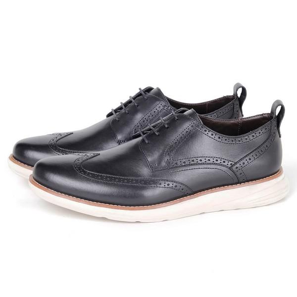 Sapato Masculino Derby Conforto em Couro Preto Savelli