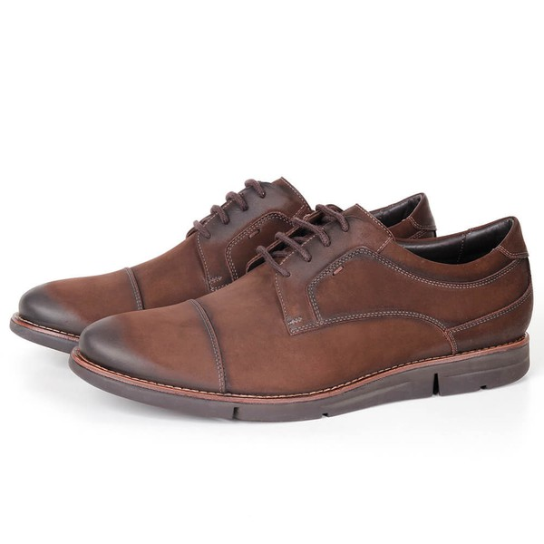 Sapato True Tech Casual em Couro Café Savelli