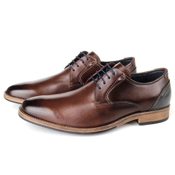 Sapato Masculino Vulcano em couro para uso casual ou social, cor café