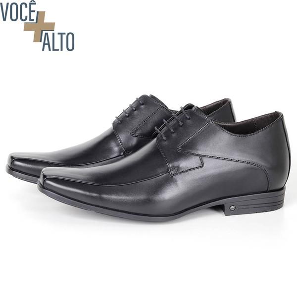 Sapato Up Clássico em Couro Preto Savelli