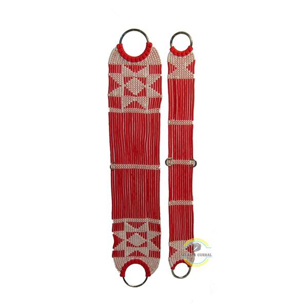 Barrigueira em Polipropileno Vermelha e Argolas em Aço Inox