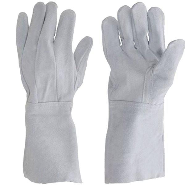 Luvas de Proteção em Couro Punho Longo - 20 cm