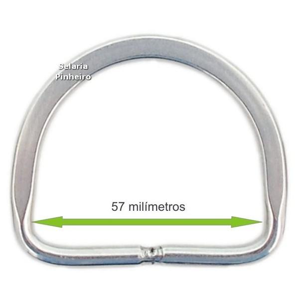 Meia-argola Chata Inox 57mm