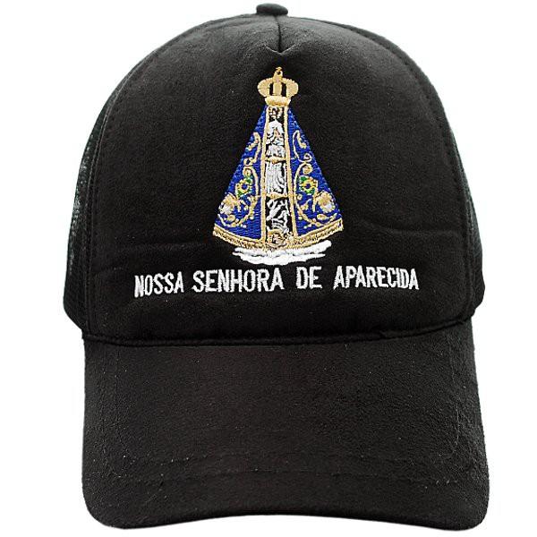 Boné Nossa Senhora Aparecida (preto)