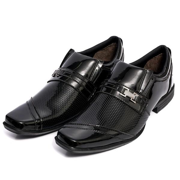 Sapato Social Masculino Verniz Preto